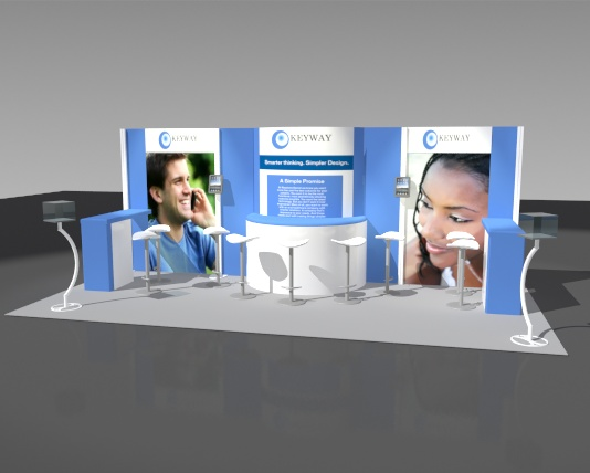 Exhibit Displays, 10x20 linear displays, The Exhibit Source, Full-scale custom modular display, Boston, MA